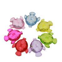 Acryl Anhänger, Fisch, DIY & transparent, gemischte Farben, 39x32x14mm, Bohrung:ca. 2mm, ca. 88PCs/Tasche, verkauft von Tasche