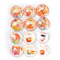 Kühlschrankmagnete, Glas, rund, Kunstdruck, gemischtes Muster, gemischte Farben, 30mm, 100PCs/Menge, verkauft von Menge
