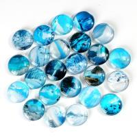 Kühlschrankmagnete, Glas, rund, Kunstdruck, gemischtes Muster & verschiedene Größen vorhanden, blau, 100PCs/Tasche, verkauft von Tasche