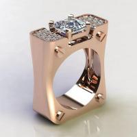 Zinklegierung Fingerring , plattiert, verschiedene Größen vorhanden & Micro pave Zirkonia & für Frau, keine, 10PCs/Menge, verkauft von Menge