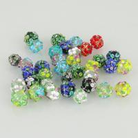 Holprige Lampwork Perlen, gemischte Farben, 12-16mm, Bohrung:ca. 1mm, ca. 10PCs/Menge, verkauft von Menge