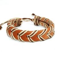 Rindsleder Armband, Kunstleder, mit Wachsschnur, unisex, keine, verkauft per 7.48 ZollInch Strang