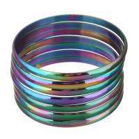Edelstahl -Armband -Set, plattiert, farbenfroh, 5.50mm, 7PCs/setzen, verkauft von setzen
