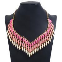 Mode Statement Halskette, Zinklegierung, mit Harz, plattiert, für Frau, keine, frei von Nickel, Blei & Kadmium, 260mm, verkauft per 16.53 ZollInch Strang