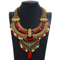 Mode Statement Halskette, Zinklegierung, mit Seedbead, plattiert, für Frau, keine, frei von Nickel, Blei & Kadmium, 126mm, verkauft per 13.4 ZollInch Strang