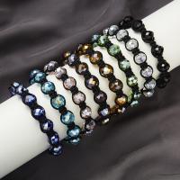 Kristall Woven Ball Armbänder, Wachsschnur, mit Kristall Hotfix, unisex, keine, 10mm, verkauft von Strang