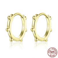925er Sterling Silber Hebel Rückseiten Ohrring, Kreisring, plattiert, für Frau, keine, 12mm, verkauft von Paar