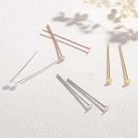 925 Sterling Silber Ohrring Stecker, 925er Sterling Silber, plattiert, poliert & DIY & verschiedene Größen vorhanden, keine, verkauft von PC