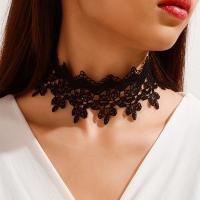 Mode-Halskette, Spitze, mit Zinklegierung, für Frau, 280x65mm, verkauft von Strang