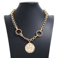 Zinklegierung Pullover Halskette, plattiert, für Frau, frei von Nickel, Blei & Kadmium, 24x35mm, verkauft per 18.11 ZollInch Strang