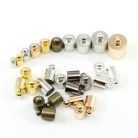 Messing Endkappe, plattiert, DIY & verschiedene Größen vorhanden, keine, frei von Nickel, Blei & Kadmium, 50PCs/Tasche, verkauft von Tasche