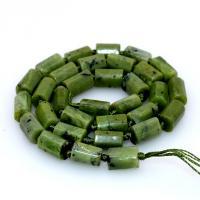 Kanadische Jade Perle, grün, 8*11mmuff0c390mm, 5SträngeStrang/Menge, verkauft von Menge