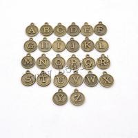Zinklegierung Buchstaben Anhänger, Buchstaben sind von A bis Z & unisex, keine, 15*12mm, 4SetsSatz/Menge, verkauft von Menge