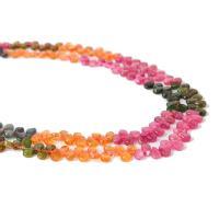Turmalin Perle, poliert, DIY & verschiedene Größen vorhanden, farbenfroh, verkauft per ca. 17.7 ZollInch Strang