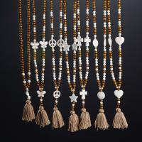 Holz Pullover Halskette, mit Synthetische Türkis, verschiedene Stile für Wahl & für Frau, keine, verkauft von Strang