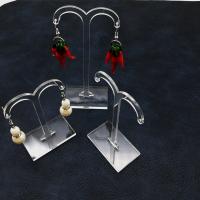 Organisches Glas Ohrringständer, mit Polypropylen, für Frau, klar, 80 x 55mm,95 * 55mm,115 * 55mm, 5SetsSatz/Menge, verkauft von Menge