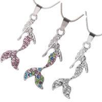 Zinklegierung Pullover Halskette, plattiert, für Frau & mit Strass, keine, frei von Nickel, Blei & Kadmium, 500x50mm, verkauft per ca. 19.68 ZollInch Strang