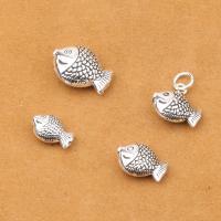 925 Sterling Silber Perlen, 925er Sterling Silber, Fisch, antik silberfarben plattiert, DIY & verschiedene Größen vorhanden, verkauft von PC