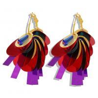 Harz Ohrring, mit Zinklegierung, plattiert, für Frau, keine, 16x60mm, verkauft von Paar