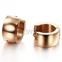 Titan Stahl Ohrring, Titanstahl, plattiert, für Frau, 13x7mm, verkauft von Paar