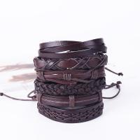 Lederband Armband, Leder, mit Zinklegierung, plattiert, für den Menschen, keine, 60x170x180mm, verkauft per ca. 23.62 ZollInch Strang