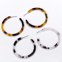 Acryl Schmuck Ohrring, rund, plattiert, für Frau, frei von Nickel, Blei & Kadmium, 40mm, verkauft von Paar