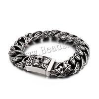 Edelstahl Schmuck Armband, plattiert, verschiedene Stile für Wahl & für den Menschen, verkauft von Strang