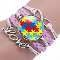 Modezeit Gem Armband, PU Leder, rund, stricken, für Kinder, keine, 250mm, verkauft per ca. 8.27 ZollInch Strang