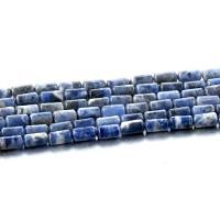 Sodalith Perlen, Sosalith, Zylinder, poliert, DIY, tiefblau, 4x8mm, Länge:ca. 15 ZollInch, 5SträngeStrang/Menge, verkauft von Menge