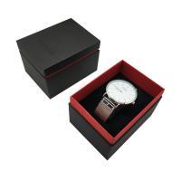 Uhr Schmuckkasten, Papier, Quadrat, Golddruck, 75x100x70mm, verkauft von PC