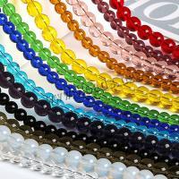 Mode Glasperlen, Glas, rund, poliert, DIY & verschiedene Größen vorhanden, keine, Länge:ca. 15 ZollInch, 10SträngeStrang/Menge, verkauft von Menge