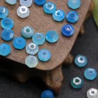 Natürliche blaue Achat Perlen, Blauer Achat, poliert, DIY & facettierte, blau, 5x8mm, verkauft von PC