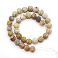 Natürliche verrückte Achat Perlen, Verrückter Achat, rund, poliert, DIY & verschiedene Größen vorhanden, verkauft per ca. 15.7 ZollInch Strang