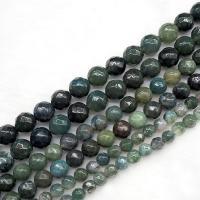 Natürliche Moos Achat Perlen, poliert, DIY & verschiedene Größen vorhanden, verkauft per ca. 15.7 ZollInch Strang