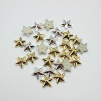 Kunststoff Niete, Stern, UV plattiert, DIY, keine, 13mm, 1000PCs/Menge, verkauft von Menge