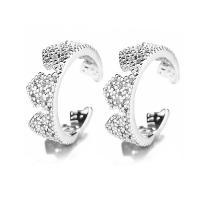 925er Sterling Silber Kreisring, für Frau, Silberfarbe, 4x12mm, 5PaarePärchen/Menge, verkauft von Menge