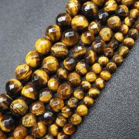 Tigerauge Perlen, poliert, DIY & facettierte, verkauft per ca. 15.7 ZollInch Strang