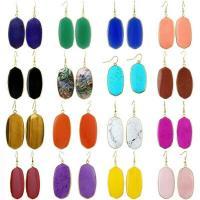 Edelstein Ohrringe, oval, für Frau, keine, 49x23mm, verkauft von Paar