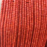 Natürliche Korallen Perlen, Koralle, rund, poliert, DIY, rote Orange, 4x4mm, Länge:ca. 15 ZollInch, 10SträngeStrang/Menge, verkauft von Menge