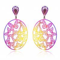 Edelstahl Tropfen Ohrring, plattiert, für Frau, farbenfroh, verkauft von Paar