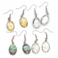 Muschel Ohrringe, oval, silberfarben plattiert, für Frau, keine, 20x15mm, verkauft von Paar