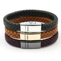 Rindsleder Armband, Kunstleder, mit Zinklegierung, keine, 1cmx21cm, verkauft von PC