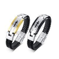 Silikon Armband, mit Edelstahl, plattiert, für den Menschen, keine, 145mm, verkauft per 8.3 ZollInch Strang