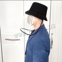 Tröpfchen & staubdichte Gesichtsschild Hut, Baumwolle, plattiert, abnehmbare & unisex, schwarz, 550-580mm, verkauft von Strang