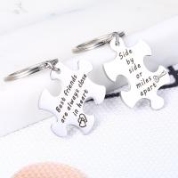 Edelstahl-Schlüssel-Verschluss, 304 Edelstahl, unisex & mit Brief Muster, originale Farbe, 38mm, verkauft von Paar