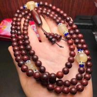 Sandelholz Halskette, mit Baumwollfaden, handgemacht, 6mm, verkauft von Strang