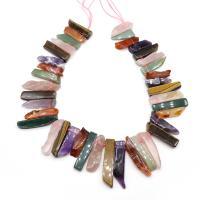 Natürlicher Quarz Perle, poliert, DIY, gemischte Farben, 1mm, ca. 38PCs/Strang, verkauft per ca. 15 ZollInch Strang