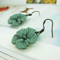 Porzellan-Ohrringe, Porzellan, mit Zinklegierung, plattiert, für Frau, keine, 15mm, verkauft von Paar