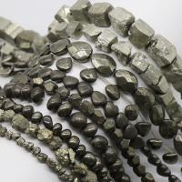 Goldene Pyrit Perlen, DIY & verschiedene Größen vorhanden, verkauft von Strang