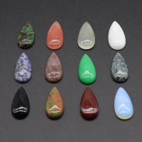 Naturstein Perle, Tropfen, poliert, DIY, gemischte Farben, 15x30mm, verkauft von PC